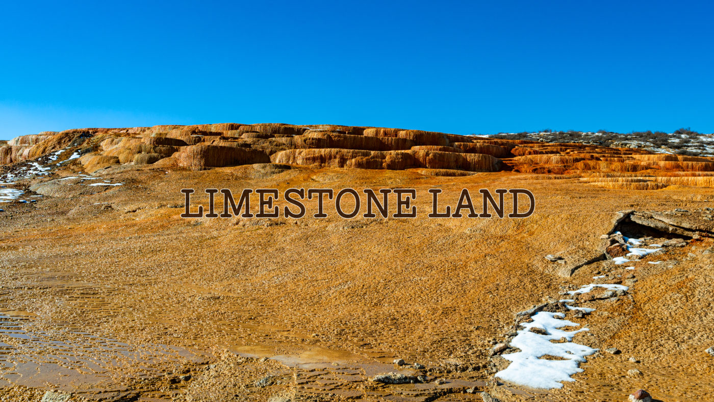LIMESTONE LAND | 地球の縮図、A rocks made up mainly of calcium carbonate called limestone spread out like shelves.